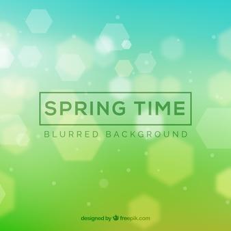 Fondo de primavera desenfocado verde