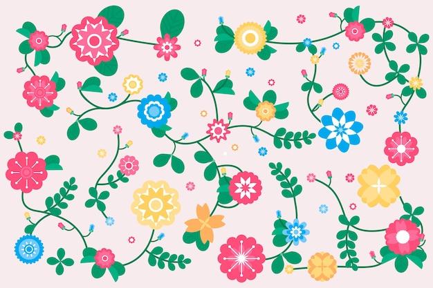 Fondo de primavera en diseño plano