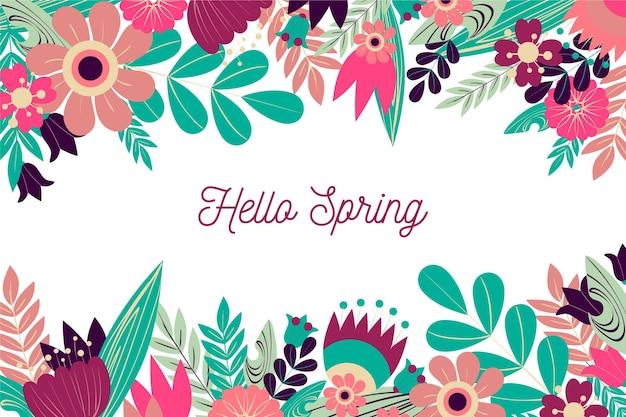 Fondo de primavera de diseño plano