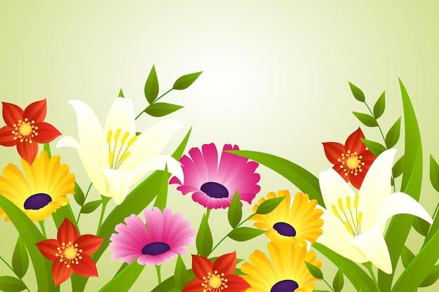 Fondo de primavera hermosa realista
