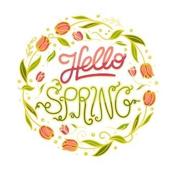 Fondo de primavera en mano dibujado