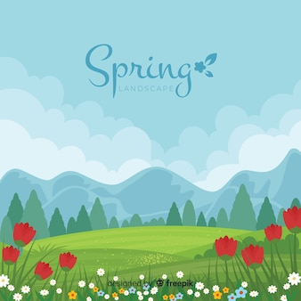 Fondo primavera paisaje