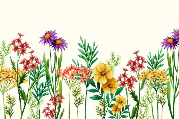 Fondo de primavera pintado a mano