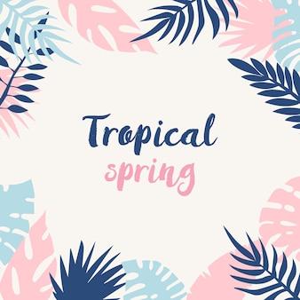 Fondo de primavera tropical