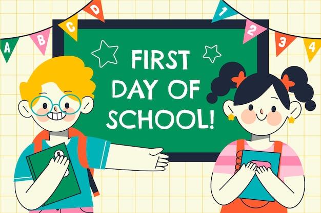 Fondo del primer día de clases