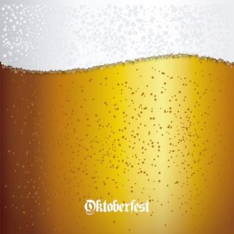 Fondo con primer plano de cerveza