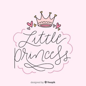 Fondo princesa caligráfico