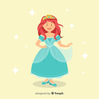 Fondo princesa plana