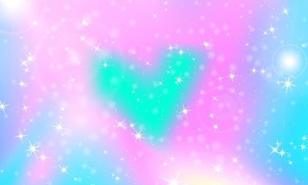 Fondo princesa sirena arcoiris. patrón de unicornio