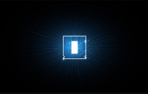 Fondo de procesador de chip de tecnología abstracta