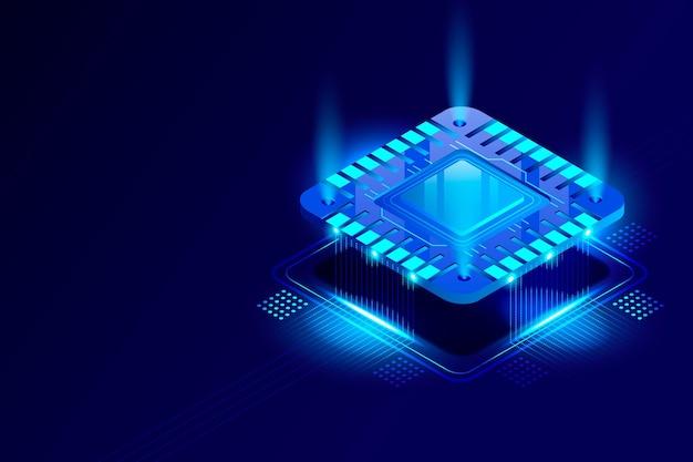Fondo de procesador de microchip realista