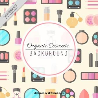 Fondo de productos ecológicos cosméticos