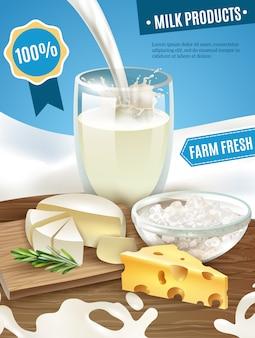Fondo de productos lácteos