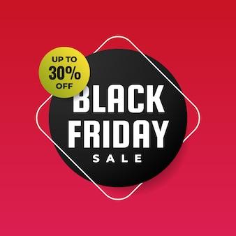 Fondo de promoción de cartel de venta de viernes negro
