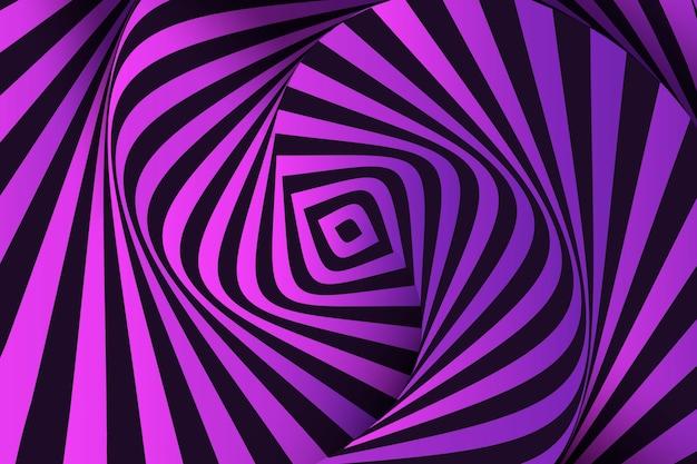 Fondo psicodélico de la ilusión óptica