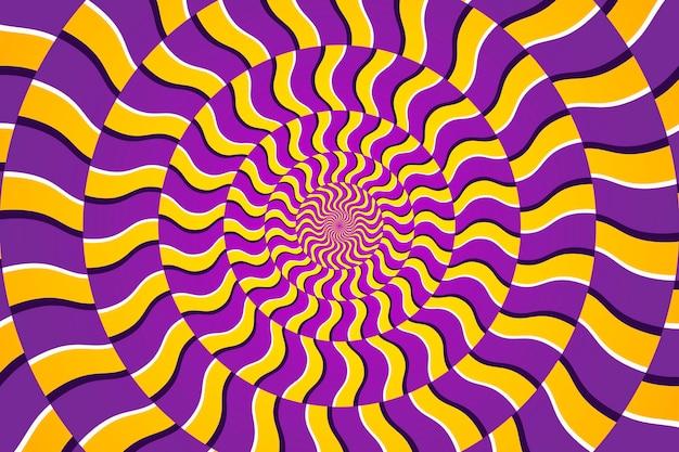 Fondo psicodélico de patrón circular dinámico