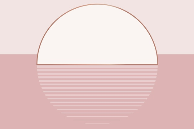 Fondo de puesta de sol rosa desnuda estética