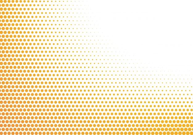 Fondo punteado abstracto naranja y blanco