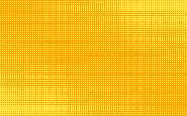 Fondo punteado de semitono. estampado amarillo con círculos. ilustración.