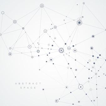 Fondo de puntos conectados