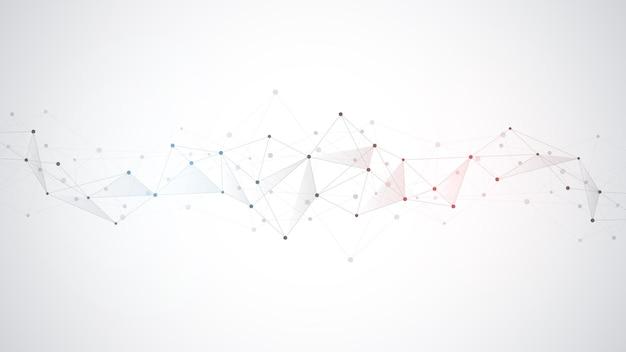 Fondo con puntos y líneas de conexión.