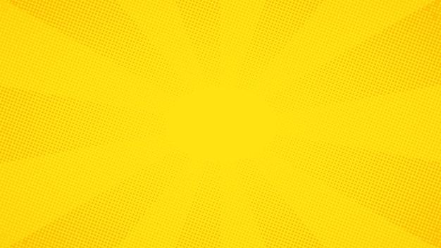 Fondo de puntos de semitono cómico del arte pop amarillo
