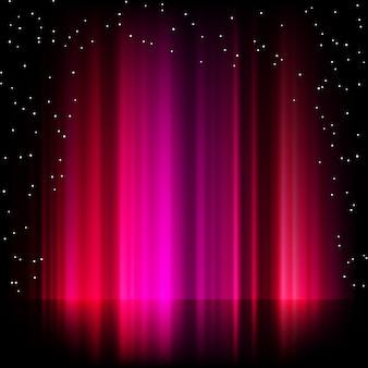 Fondo púrpura de la aurora boreal.