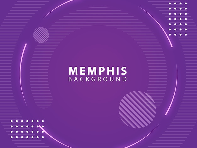 Fondo púrpura del estilo abstracto de memphis