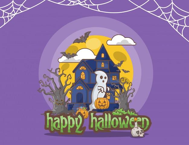 Fondo púrpura de halloween
