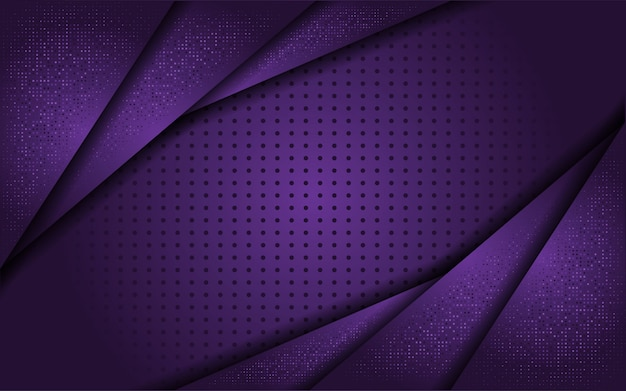 Fondo púrpura de lujo con línea de oro