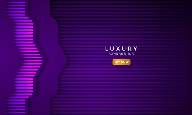 Fondo púrpura oscuro de lujo, concepto moderno de la página de aterrizaje.