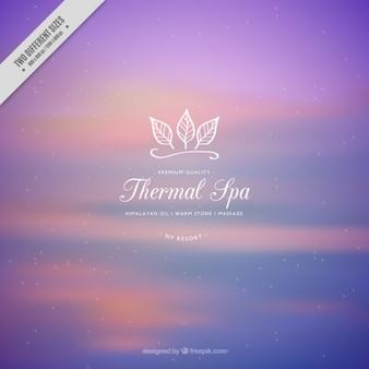 Fondo púrpura de spa