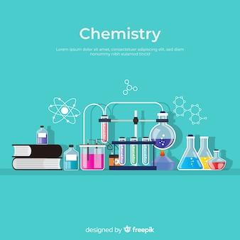 Fondo química colorido plano