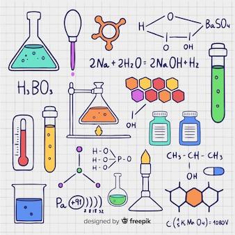 Fondo química dibujado a mano
