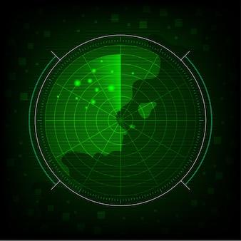 Fondo de radar verde abstracto