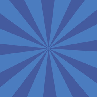 Fondo de ráfaga de color azul o fondo de rayos de sol