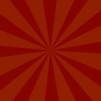 Fondo de ráfaga de color rojo o fondo de rayos de sol