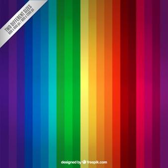 Fondo de rallas de arcoiris
