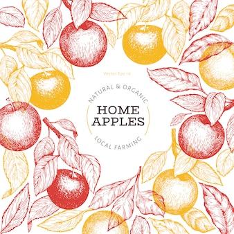 Fondo de rama de manzana