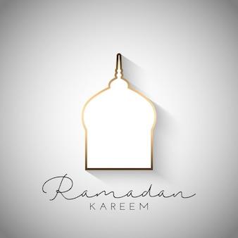 Fondo ramadan kareem con un diseño simplista