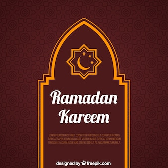 Fondo de ramadan kareem con elementos naranjas