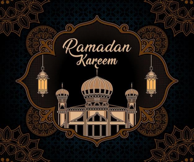 Fondo de ramadan kareem vintage