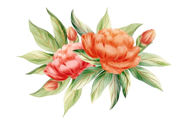 Fondo de ramo de flores vintage