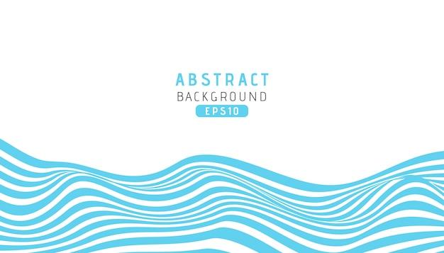Fondo de rayas azules de onda con estilo de corte de papel