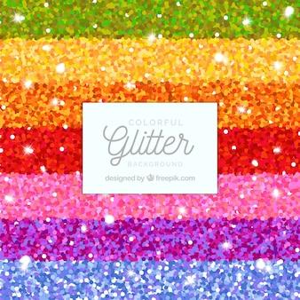 Fondo de rayas de brillantina coloridas