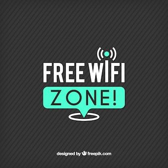 Fondo de rayas con conexión wifi