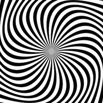 Fondo de rayo espiral blanco y negro