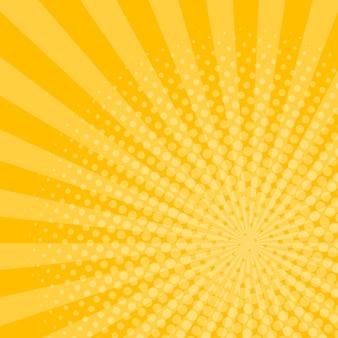 Fondo de rayos con efecto de semitono