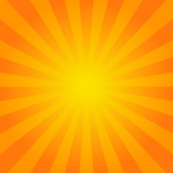 Fondo de rayos naranja brillante