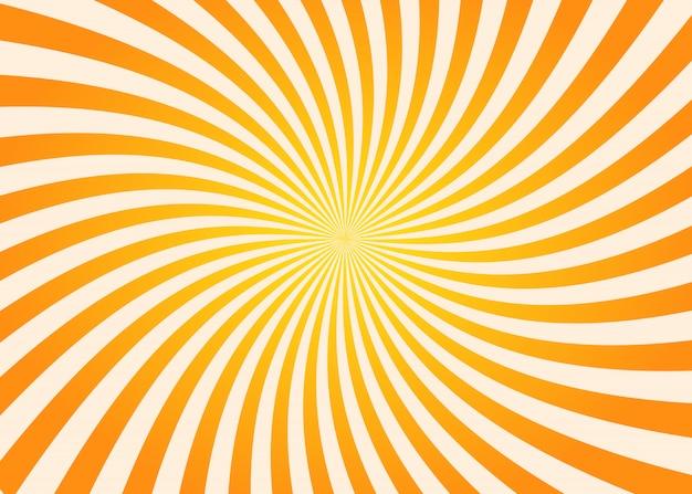 Fondo de rayos de sol remolino naranja y amarillo